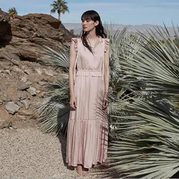 25db08e87d1ca Banana Republic Dresses | Soft Satin Maxi Dress Sz 2p | Poshmark